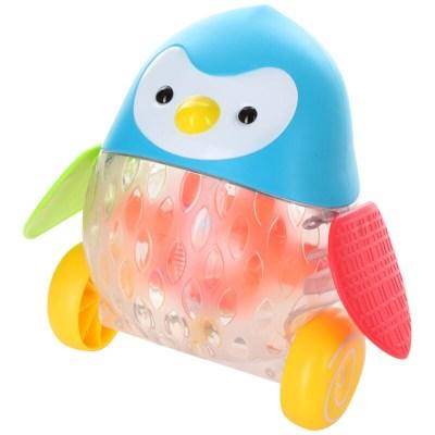 jucărie de împins pinguin cu lumini
