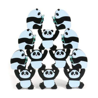 Joc de logică și îndemânare din lemn - Urși Panda în echilibru