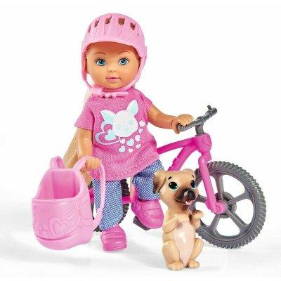 Păpușă Evi cu bicicletă