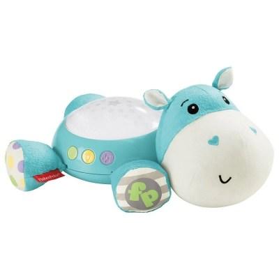 Proiector bebeluși hipopotam albastru Fisher Price