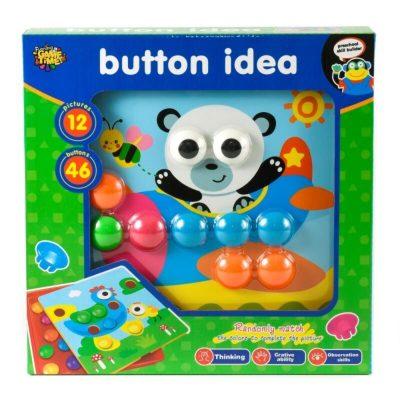 Joc mozaic creativ Button Idea cu 12 planșe Panda