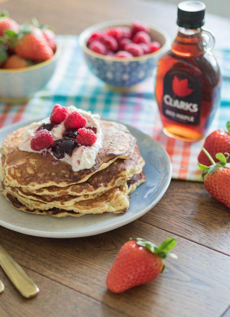 Recipe || Light + Fluffy Buttermilk Pancakes