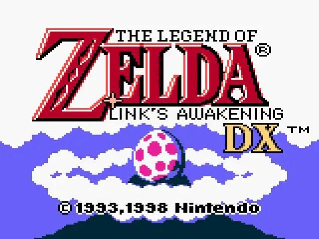 Legend of Zelda: Link's Awakening DX title screen
