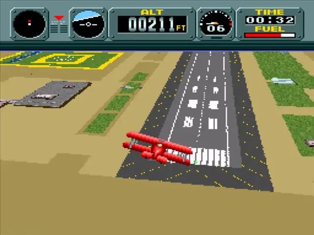 Pilotwings SNES flight