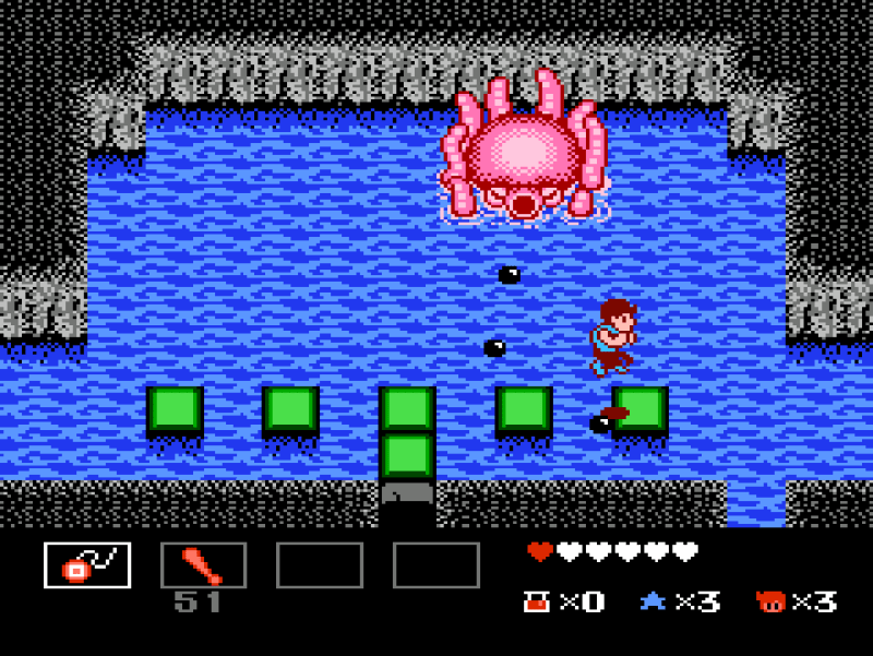 StarTropics for NES octopus boss