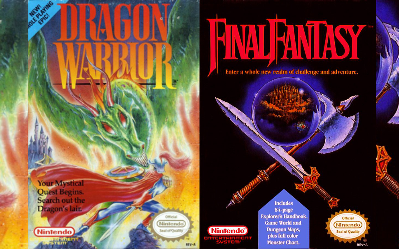 Dragon Warrior vs Final Fantasy NES games