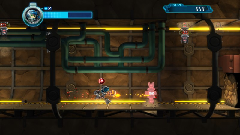 Mighty No. 9 gameplay screen