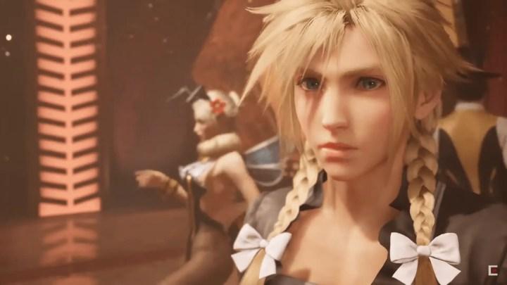 Final Fantasy VII Remake - Cloud in drag