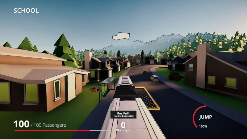 Snakeybus on PS4, Xbox and Nintendo Switch - Snakeybus in the suburbs