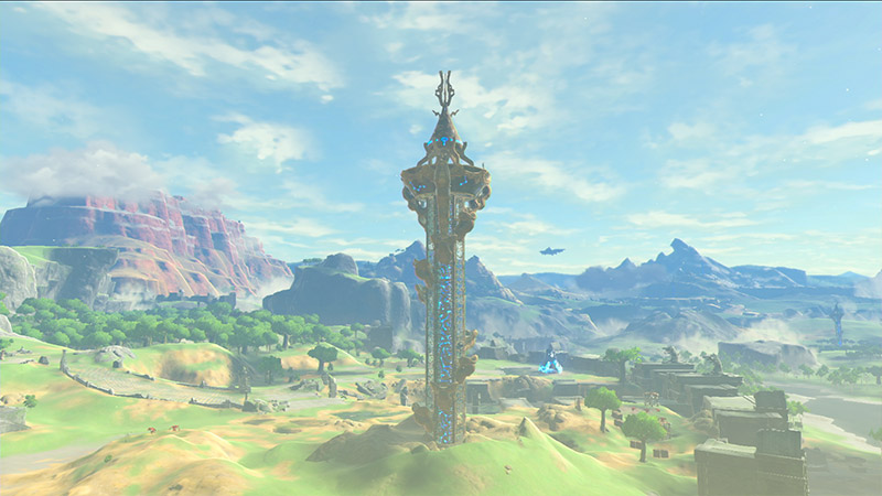 Breath of the Wild 2 wishlist - A Tower screenshot from BotW1