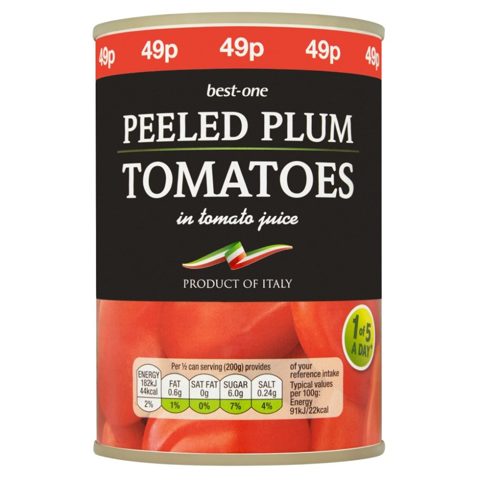 Peeled Plum Tomatoes in Tomato Juice (400g)