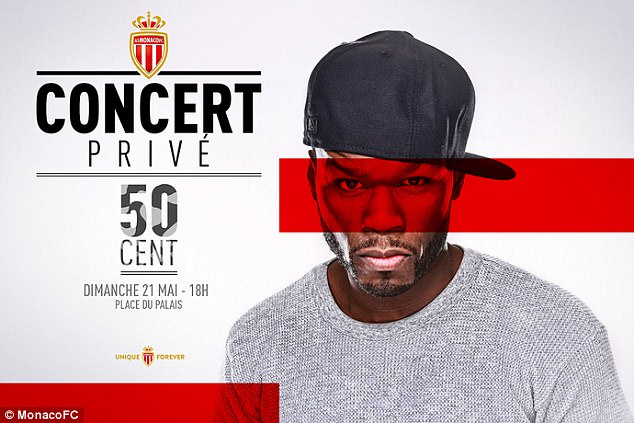 American Superstar 50 Cent To Perform At Monaco's End-Of-Season Party As Club Celebrate Successful Campaign