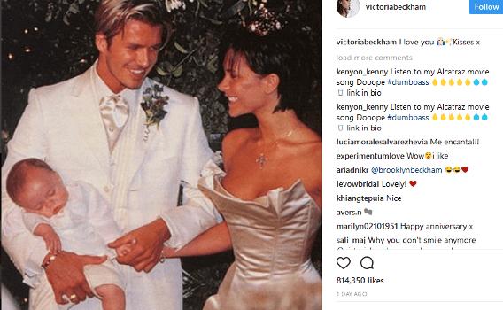 David And Victoria Beckham Celebrate 18th Wedding Anniversary