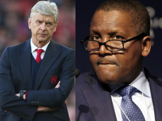 Africa's Richest Man, Aliko Dangote Plans To Take Over Arsenal And Sack Arsene Wenger