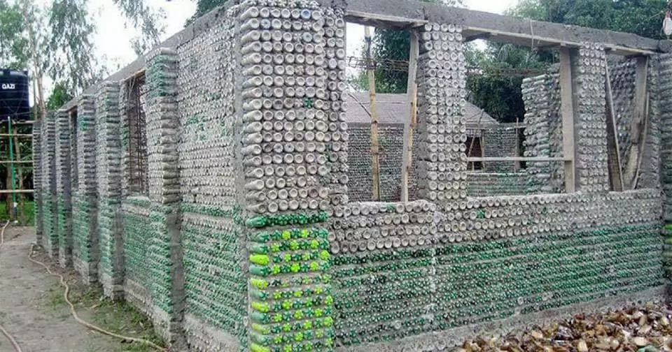 Amazing: Man Builds Houses Using Plastic Bottles