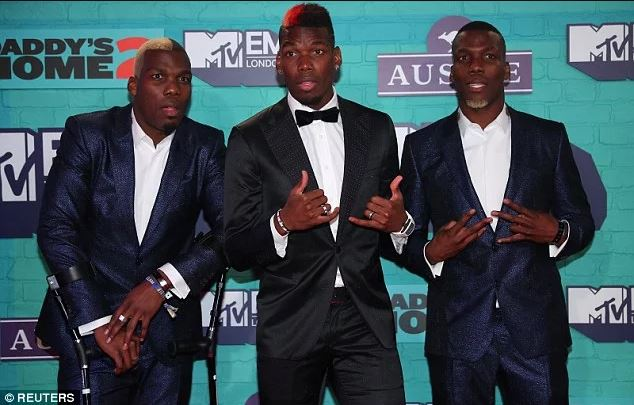 Watch: Paul Pogba And His Twin Brothers Show Off Crazy Dance Moves At MTV European Music Awards