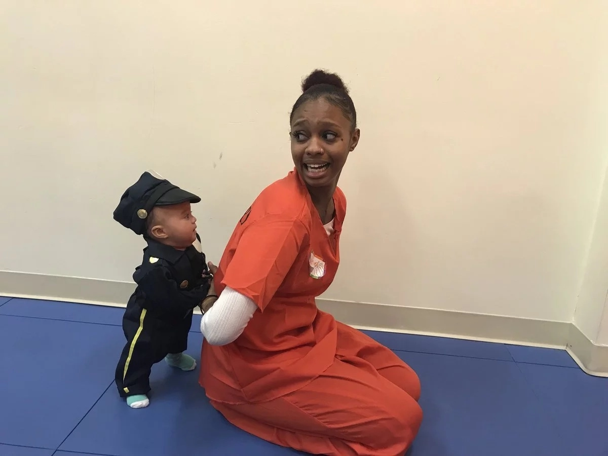 Awww: Mother Shares Cute Photos Of Her Baby 'Arresting' Her And It's ADORABLE