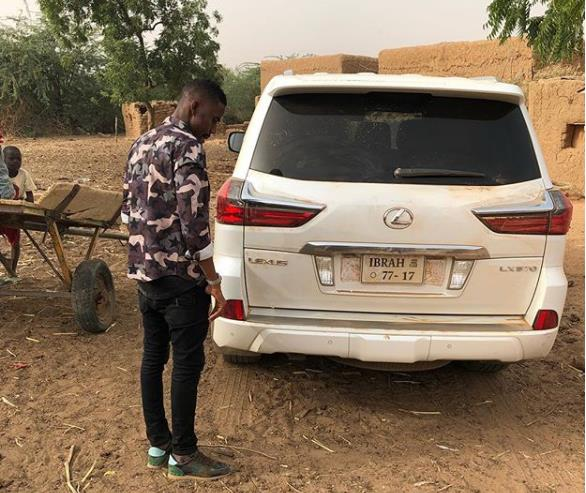[Photos]Check Out Young Ghanaian Millionaire Ibrah One's Expensive 2017 Lexus 4×4.