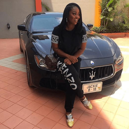 Photo: Check Out Jackie Appiah's  2018 Customized Maserati.