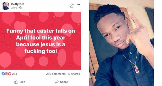 Young Man Attacks Jesus Christ, See How Social Media Users ROASTED Him