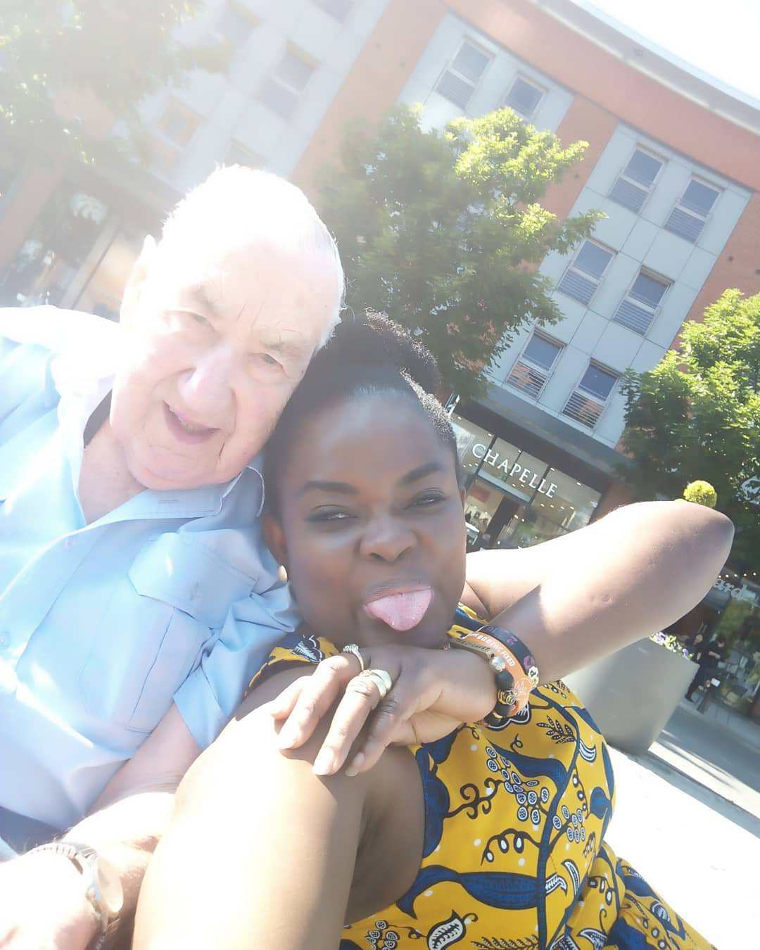 Ghanaian Lady Married To A 90-Year-Old White Man Discloses How She Met Her Husband (+Video/Photos)