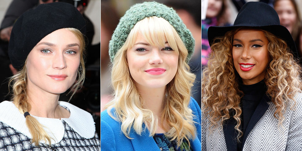 Hairstyles To Wear With Hats Cute Hats And Hairstyles
