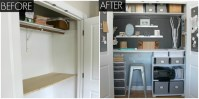Small Office Organizing Ideas - Closet Office Makeover