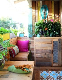 Renter-friendly Patio Makeover - Tropical Decor