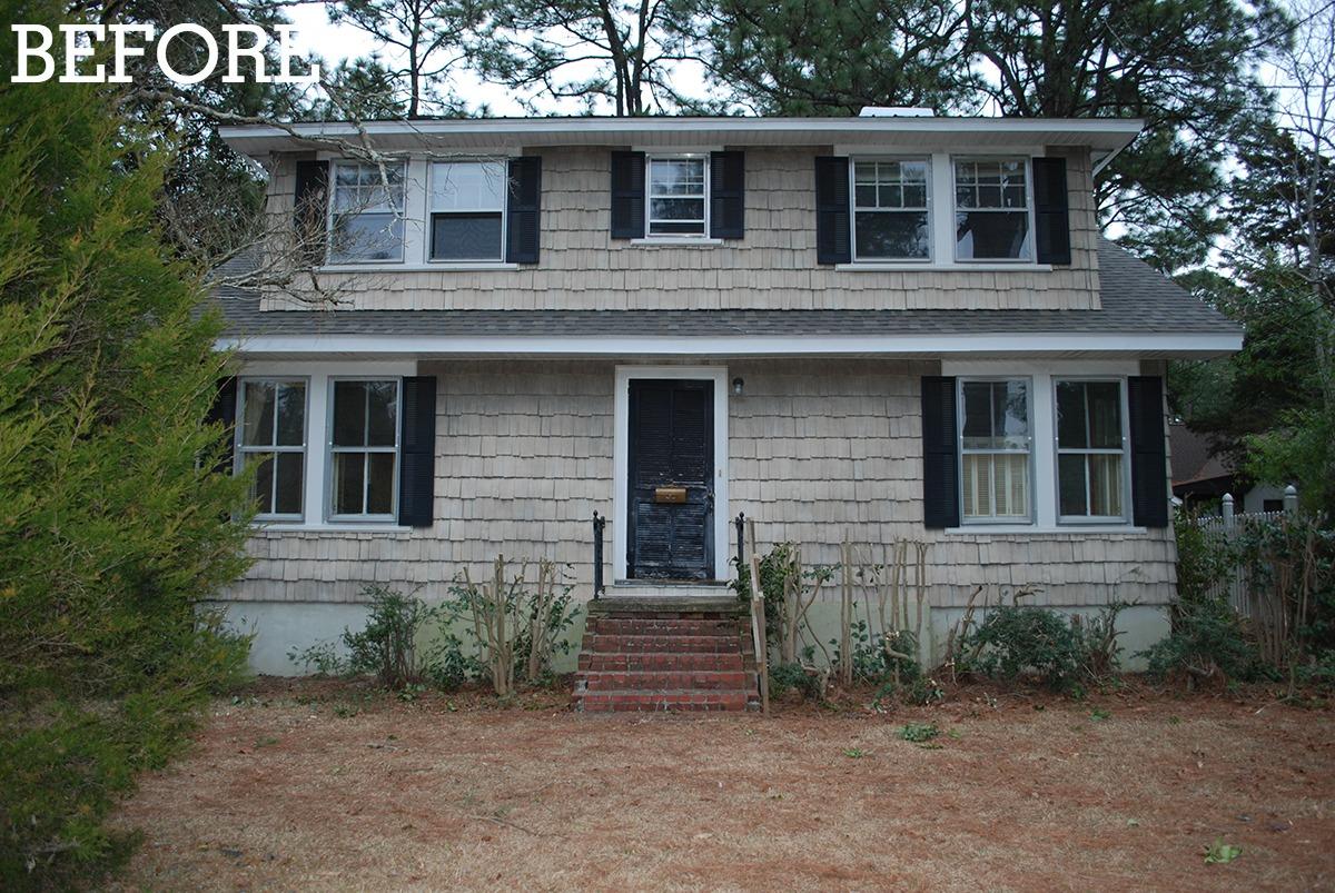 Blue Home Exterior Makeover