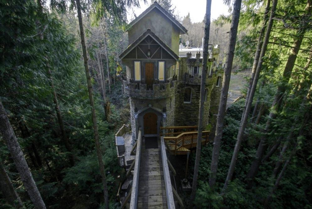 Washington Forest Castle House  Pacific Northwest Castle