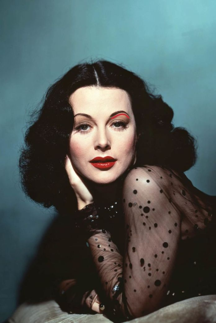 "The angle-free advantage: Curved brows make you look decadently relaxed all the time, even if you're a HBIC under mega-pressure. And in the case of screen star Hedy Lamarr, the shape softens her face. ""She has raven black hair and a strong forehead and jaw,"" Scott notes. ""Pointy brows would look very sharp and hard on her."""