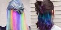 The Underlights Hair Color Trend  Secret Rainbow Hair Color