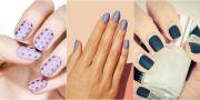 cool design matte nails