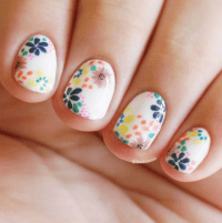20 Flower Nail Art Design Ideas