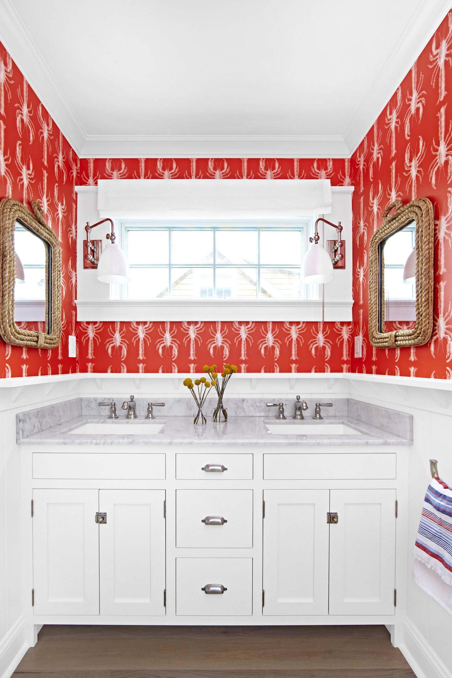 Bright and Coastal Bathroom Update