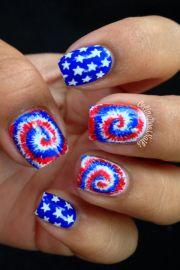 4th of july nail art design