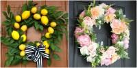 20 DIY Summer Wreaths - Outdoor Door Wreath Ideas for Summer