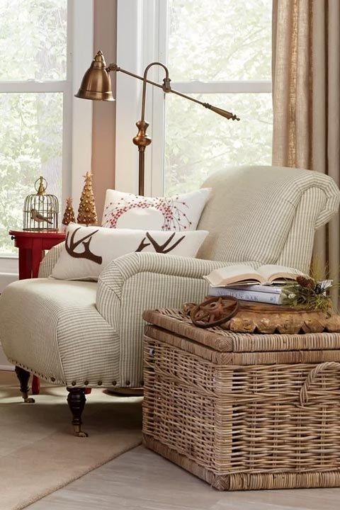 All it takes is a cozy chair, a standing lamp and a new book to make the corner of your bedroom feel like a brand new space. Get the look: chair, $462, jossandmain.com
