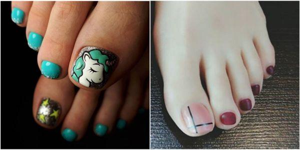 Cute Toe Nail Art Design 2018 - Toenail Polish Ideas