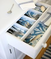 Everyone may not see it, but that doesn't mean a kitchen, bathroom, or office drawer doesn't deserve a pretty print.