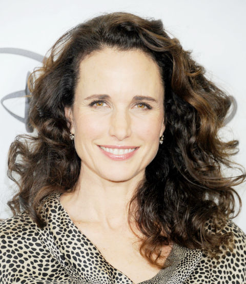 Wear your curly hair on the longer side in a layered, collar bone-length cut like Andie MacDowell. This will help prevent the dreaded poof ball that can occur with a short curly crop. Ask your stylist to add plenty of layers throughout to remove some of the bulk.