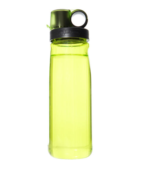 This water wonder is durable, leak-proof, and easy to sip from. It's made from Eastman Tritan plastic, which the manufacturer claims is BPA-free. Pros: The flip-top cap makes the bottle easy to open with one hand. Measurement markings on the side of the bottle make it simple to track how much water you've had on your walk. Cons: Some testers found the bottle lip a bit uncomfortable. (In ruby red, slate, or spring green;nalgene-outdoor.com)