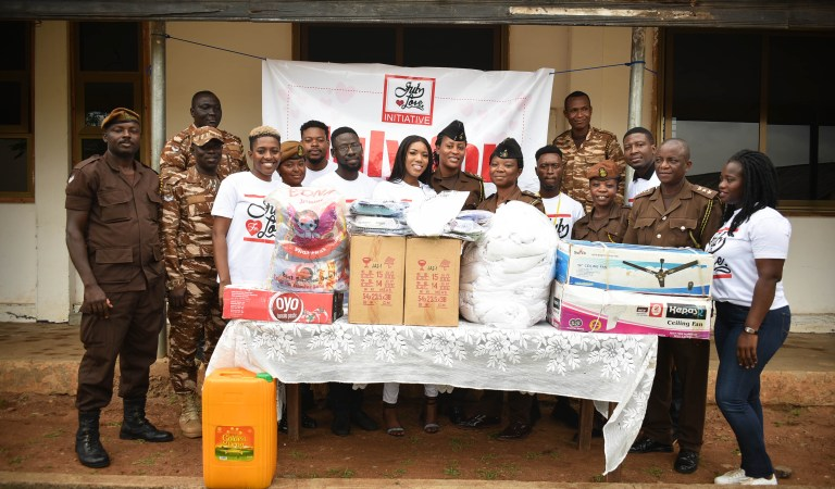 Video: Victoria Lebene & friends make donations to James Camp Prisons as part July For Love initiative