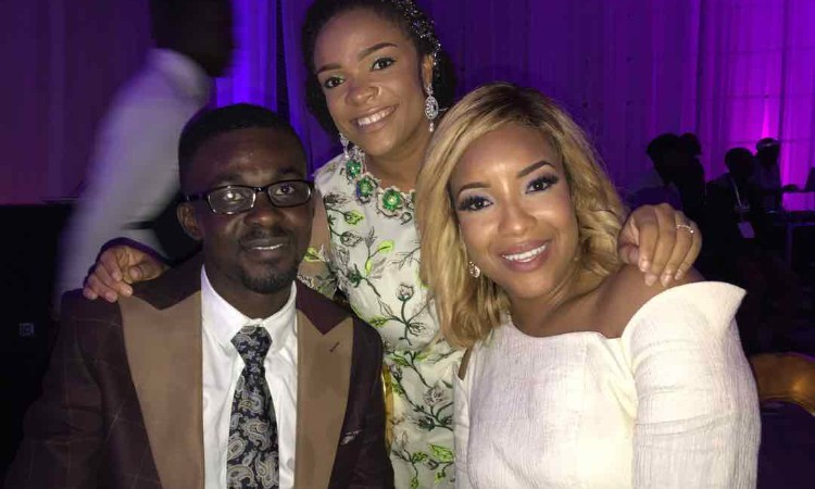 Nam1, Becca, Joselyn Dumas and others at Sarkodie's white wedding