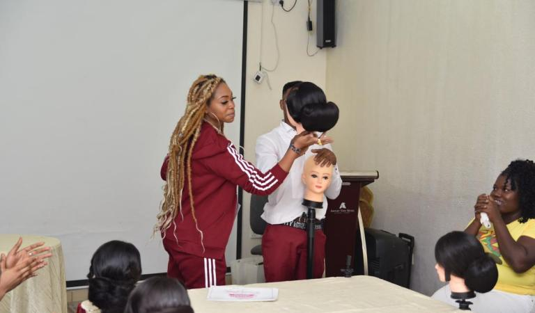 Shatta Michy successfully organises Hairstyling Masterclass for 20 young ladies