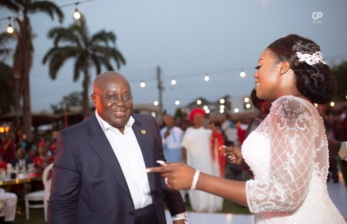 Prez Akufo-Addo snatch Kofi Agyepong's new wife with great dance moves – Watch video