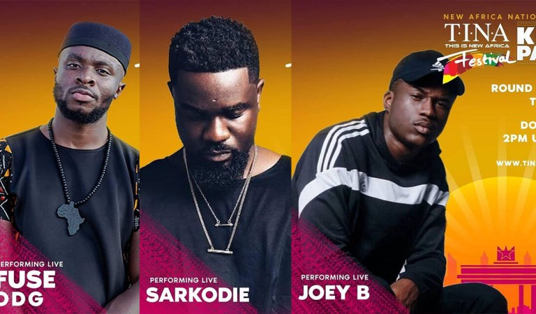 "Fuse ODG, Sarkodie, Joey B to rock ""TINA Festival' at Trade Fair, today"