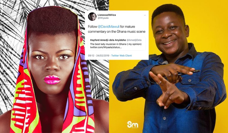 #SupportYourOwn: Artist endorse good Bloggers, Wiyaala gives David Mawuli his share