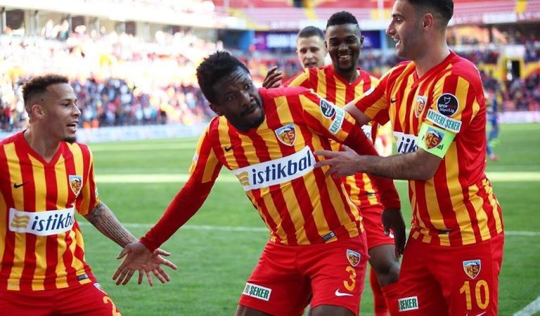 "Watch: Asamoah Gyan save club ""Kayserispor"" from relegation"