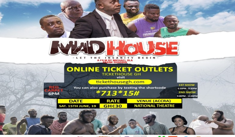 Mad House: Oteele, Big Akwess, Dabo and others in mental health movie; showing at National Theatre June 15